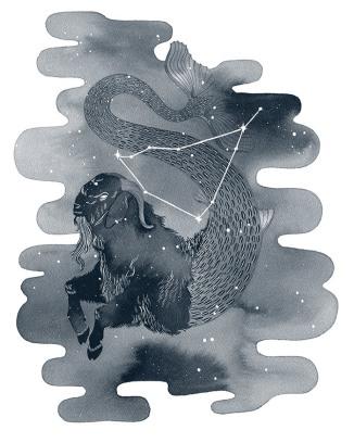 Capricorn, ink, 2016