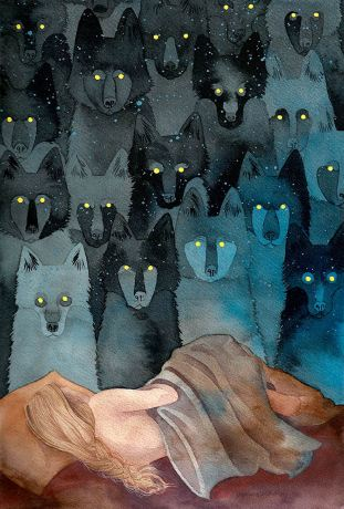 In the Company of Wolves, ink, 2012