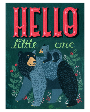 Hello Little One, gouache, 2016