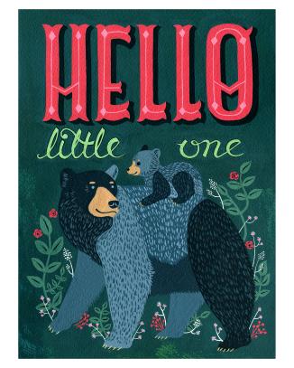 Hello Little One, gouache, 2016