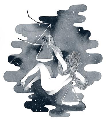 Libra, ink, 2016