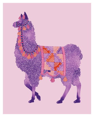 Purple Llama, ink and digital, 2016
