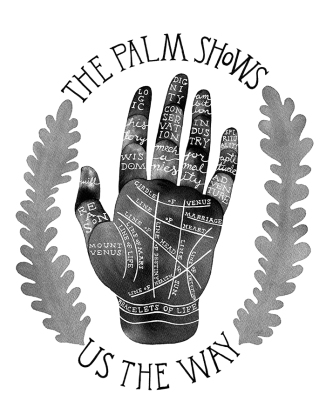 The Palm Shows Us The Way, ink, 2015